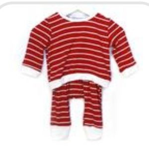 Goosebumps Matching Sets - Candy Cane Stripped 2 Piece Set